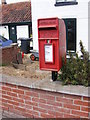 TM2993 : Hempnall Road Post Office Postbox by Adrian Cable