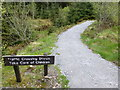H4981 : Traffic crossing notice, Gortin Glens Park by Kenneth  Allen