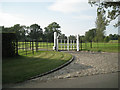 SP1167 : Gates to the drive to Chapel Barn, Ullenhall by Robin Stott