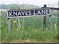 TM2993 : Knaves Lane sign by Adrian Cable