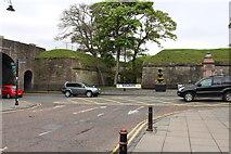 NT9953 : Car Park exit onto Castlegate by Billy McCrorie