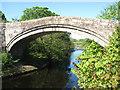 NY5563 : The arch of old Lanercost Bridge by James Denham