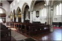 TQ3581 : St Dunstan & All Saints, Stepney - North arcade by John Salmon