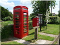 ST6917 : Purse Caundle: postbox № DT9 21 and phone box by Chris Downer