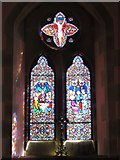 NY9449 : St. James's Church, Hunstanworth - stained glass window by Mike Quinn