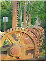 SZ1195 : Throop: weir workings at the mill by Chris Downer