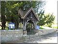 NZ2179 : Beautifully decorated lychgate entrance by James Denham