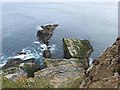 HU4008 : Sea stacks on the east side of Sumburgh Head by Oliver Dixon