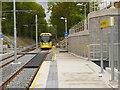SJ8491 : Tram Approaching West Didsbury by David Dixon
