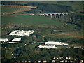 NT0765 : Linhouse Water railway viaduct from the air by Thomas Nugent