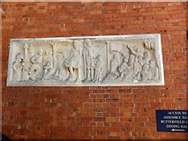 SX9392 : Commemorative panel at Exeter School by David Smith