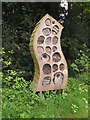 TQ1776 : Insect hotel in Kew Gardens by David Hawgood