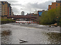 SE3033 : River Aire Weir and Crown Point Bridge by David Dixon