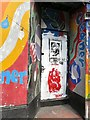 SJ8990 : Artwork on Wellington Street South by Gerald England