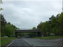 SO8463 : A449 Ombersley bypass crossing A4133 by David Smith