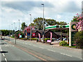 SJ7279 : Shell Garage and Little Chef, Chester Road by David Dixon