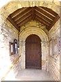 SE7486 : Sinnington church, south doorway by Gordon Hatton