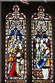 SK9725 : Stained glass window, Thomas à Becket church by J.Hannan-Briggs