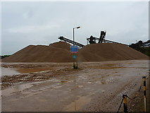 SK1814 : Stockpiles in Alrewas quarry by Richard Law