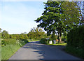 TM3667 : Rendham Road, Sibton by Adrian Cable