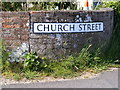TM4678 : Church Street sign by Adrian Cable