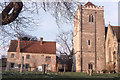 SU5794 : Dorchester Abbey: west tower by Christopher Hilton
