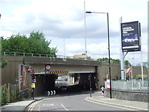 TQ3783 : Bridge under the East Cross Route near Hackney Wick by Malc McDonald