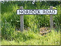 TM4679 : Norfolk Road sign by Adrian Cable