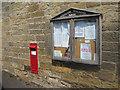 NU1328 : Parish notice board and post box, Warenford by Graham Robson