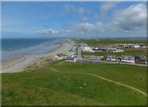 SH4356 : Dinas Dinlle from the hill fort by Richard Hoare