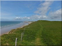 SH4356 : Path over the hill fort at Dinas Dinlle by Richard Hoare