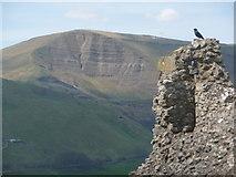 SK1482 : Castleton: view of Mam Tor from Peveril Castle by Chris Downer