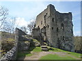 SK1482 : Castleton: Peveril Castle keep by Chris Downer
