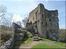 SK1482 : Castleton: Peveril Castle keep by Chris Downer