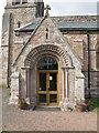 NT8947 : St Cuthbert's church: south porch by Stephen Craven