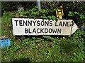 SU9032 : Pre-Worboys sign on the corner of Tennyson's Lane by David Howard