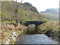 NM7384 : Old bridge over the Allt a' Mhàma by M J Richardson