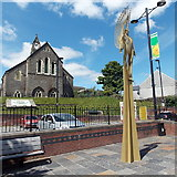 ST1599 : The Angel statue, Bargoed by Jaggery