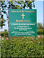TM4980 : Church of St.Lawrence sign by Adrian Cable