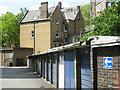 TQ3182 : Lock-up garages, Brunswick Estate by Stephen McKay