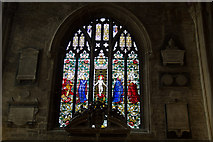 SP0202 : Stained Glass Window, St John the Baptist, Cirencester, Gloucestershire by Christine Matthews