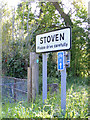 TM4481 : Stoven sign on Wangford Road by Adrian Cable