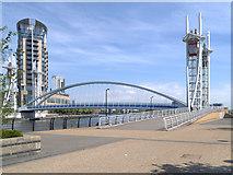 SJ8097 : Lowry (Millennium) Bridge, Salford Quays by David Dixon