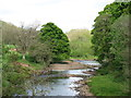NY5563 : The River Irthing from Lanercost Bridge by David Purchase