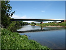 NY3756 : The new Carlisle Western By-pass crosses the River Eden by David Purchase