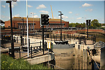 TF3242 : Black Sluice Lock by Richard Croft