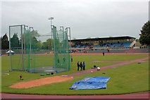 NZ5019 : Last Open Athletics Meeting, Clairville Stadium by Mick Garratt