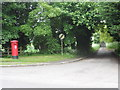 TL5546 : Post box and entrance to Long Lane, Linton by Bikeboy