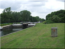 TL3700 : River Lee Navigation at Waltham Abbey by Malc McDonald
