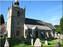 NY9371 : St Giles' church, Chollerton by David Purchase